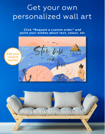 Stay Wild and Free Canvas Wall Art - image 7