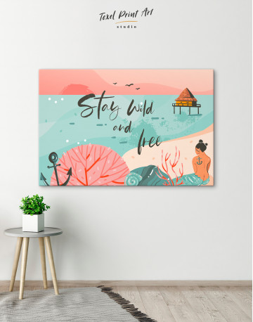 Stay Wild and Free Canvas Wall Art - image 6