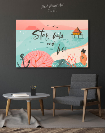 Stay Wild and Free Canvas Wall Art - image 4