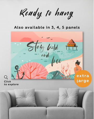 Stay Wild and Free Canvas Wall Art - image 3