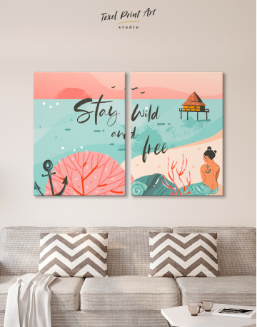 Stay Wild and Free Canvas Wall Art - image 10