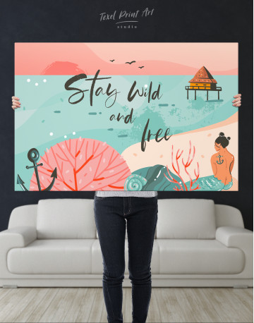 Stay Wild and Free Canvas Wall Art - image 9
