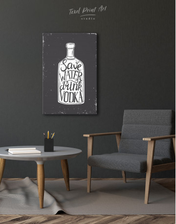 Save Water Drink Vodka Canvas Wall Art - image 2