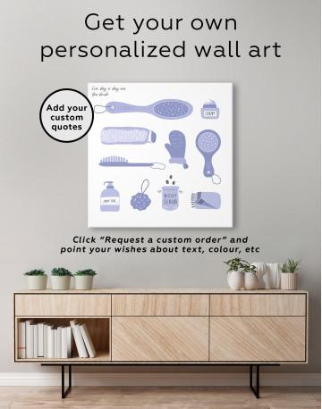 Bathroom Accessories Set Canvas Wall Art - image 4