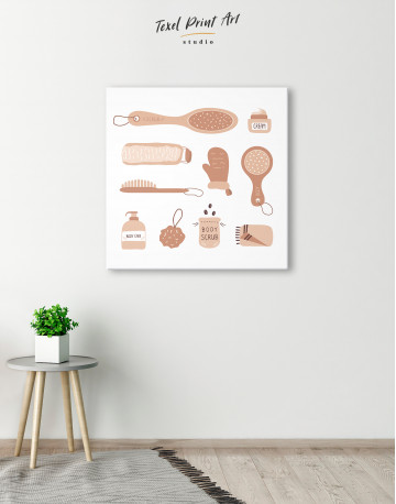 Bathroom Accessories Set Canvas Wall Art - image 2