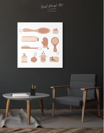 Bathroom Accessories Set Canvas Wall Art - image 1