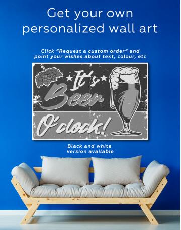 Its Beer O'clock Canvas Wall Art - image 5