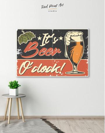 Its Beer O'clock Canvas Wall Art - image 6