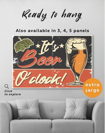 Its Beer O'clock Canvas Wall Art - image 8