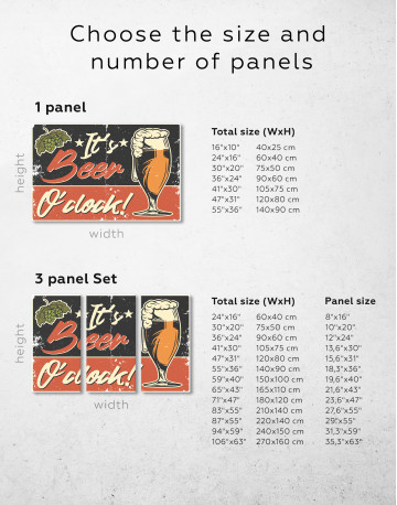 Its Beer O'clock Canvas Wall Art - image 9