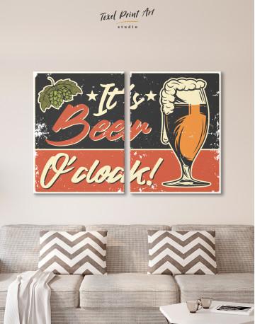 Its Beer O'clock Canvas Wall Art - image 1