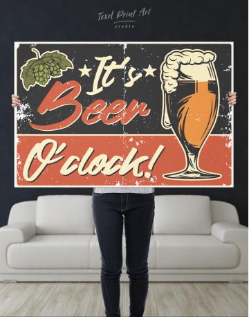 Its Beer O'clock Canvas Wall Art - image 3