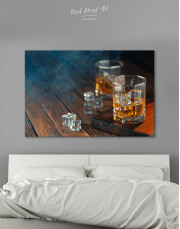 Whiskey Glass With Ice Canvas Wall Art