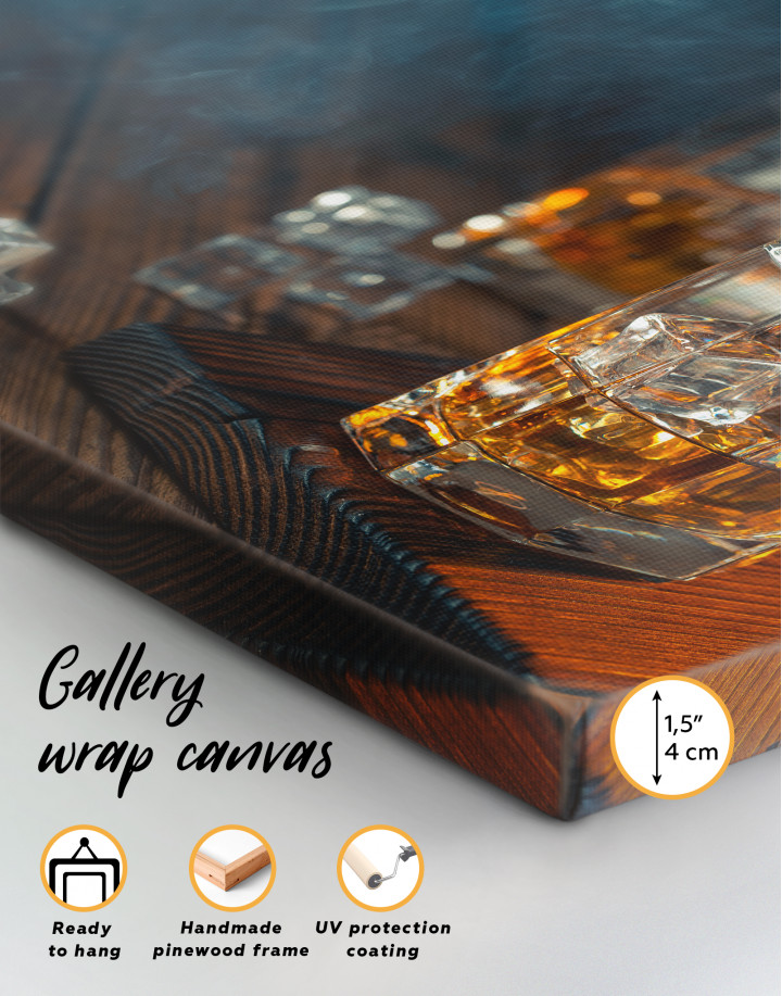 Whiskey Glass With Ice Canvas Wall Art - Image 8