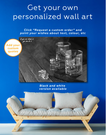 Whiskey Glass With Ice Canvas Wall Art - image 7