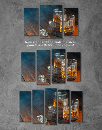 Whiskey Glass With Ice Canvas Wall Art - image 5