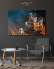Whiskey Glass With Ice Canvas Wall Art - Image 4