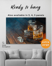 Whiskey Glass With Ice Canvas Wall Art - Image 3