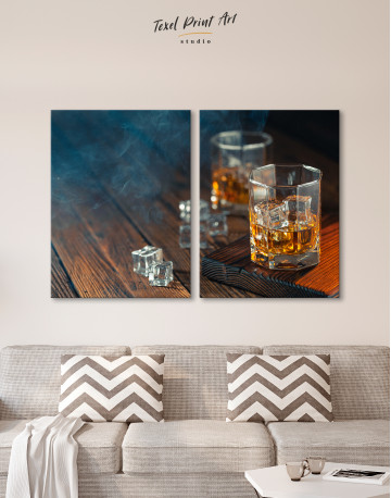 Whiskey Glass With Ice Canvas Wall Art - image 10