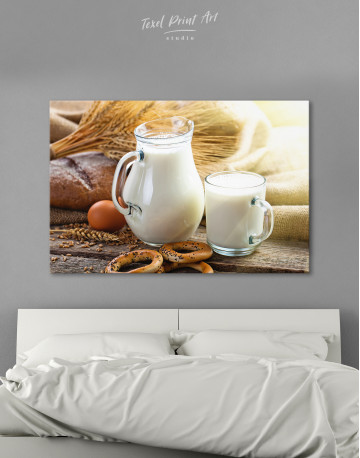 Bread with Milk Canvas Wall Art