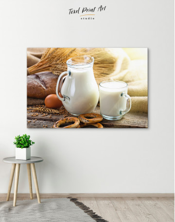 Bread with Milk Canvas Wall Art - image 6