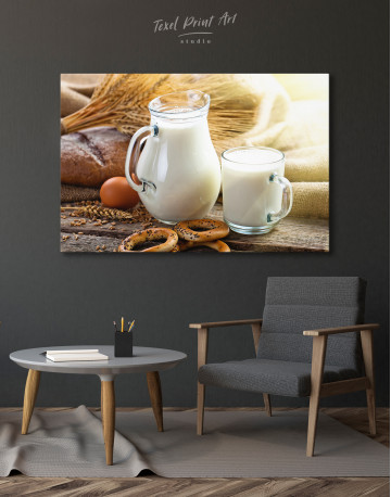Bread with Milk Canvas Wall Art - image 4