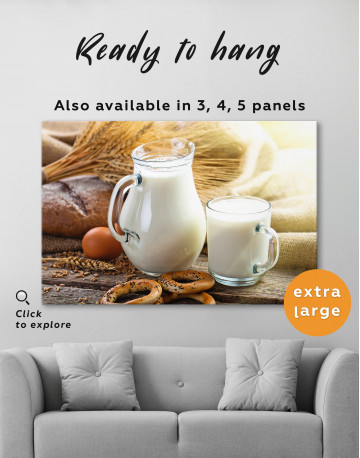 Bread with Milk Canvas Wall Art - image 3