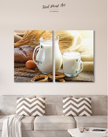 Bread with Milk Canvas Wall Art - image 9