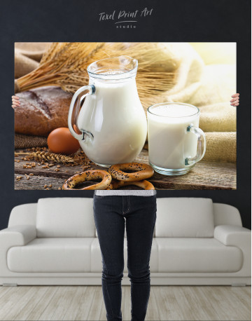 Bread with Milk Canvas Wall Art - image 10