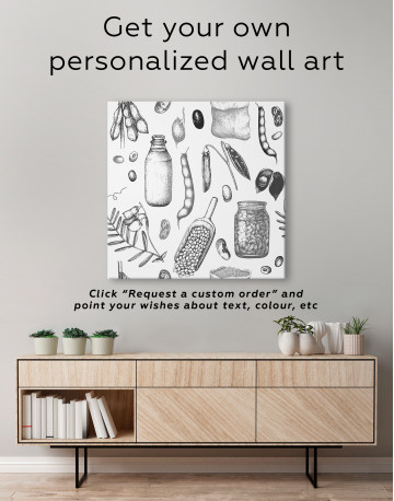 Legumes Beans Painting Canvas Wall Art - image 3