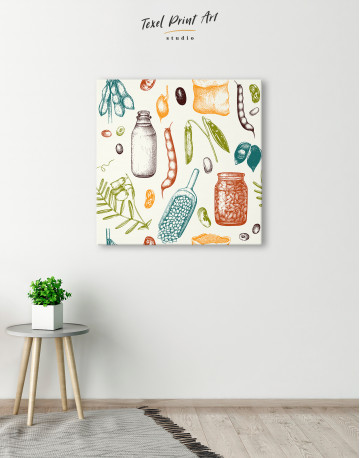 Legumes Beans Painting Canvas Wall Art - image 5