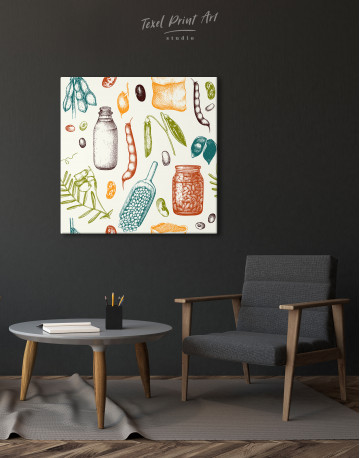 Legumes Beans Painting Canvas Wall Art - image 1