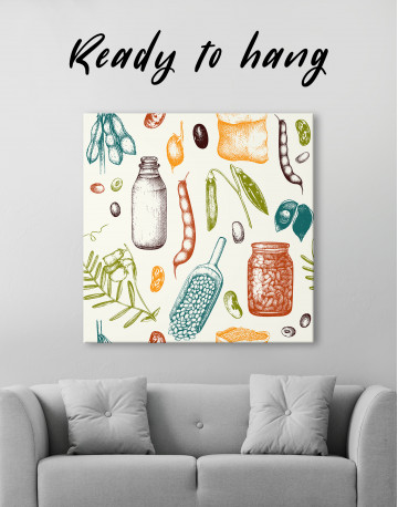 Legumes Beans Painting Canvas Wall Art