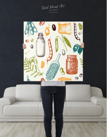 Legumes Beans Painting Canvas Wall Art - image 6