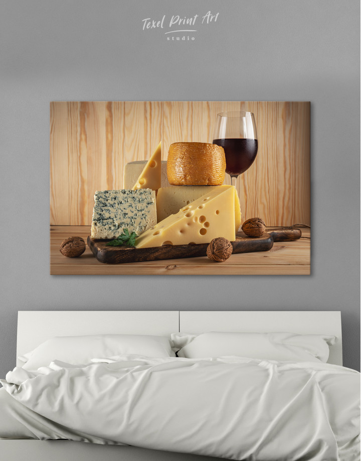 Cheese and Wine Canvas Wall Art