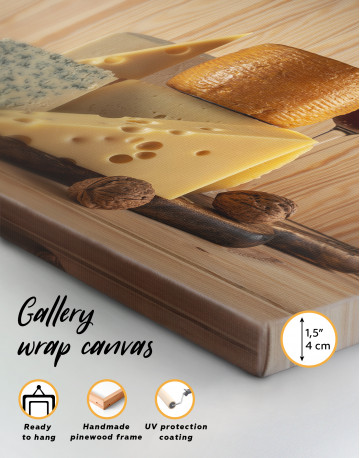 Cheese and Wine Canvas Wall Art - image 3