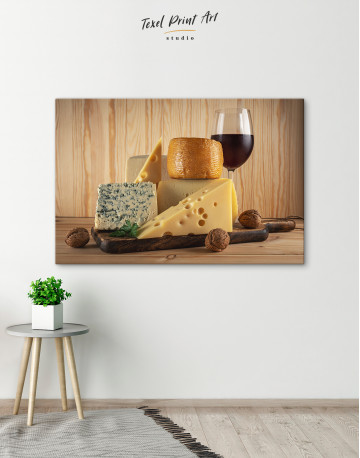 Cheese and Wine Canvas Wall Art - image 5