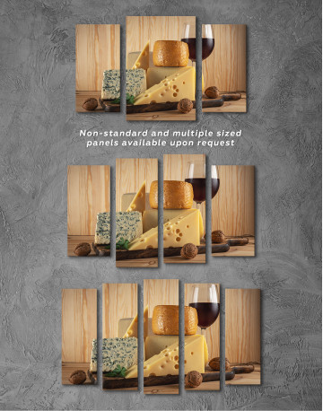 Cheese and Wine Canvas Wall Art - image 6