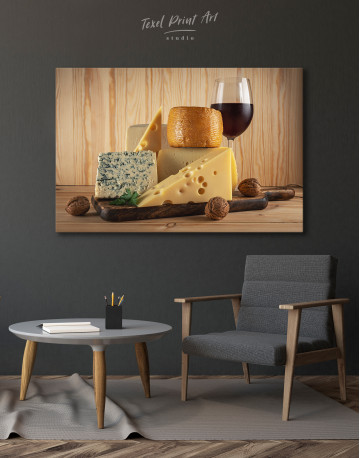 Cheese and Wine Canvas Wall Art - image 7