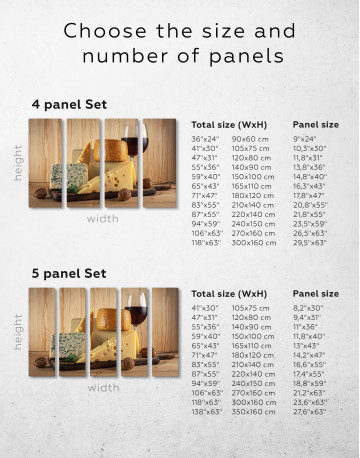 Cheese and Wine Canvas Wall Art - image 10