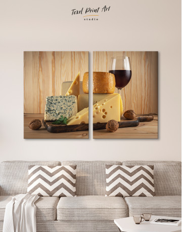 Cheese and Wine Canvas Wall Art - image 2