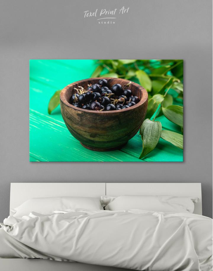 Black Currant Bowl Canvas Wall Art