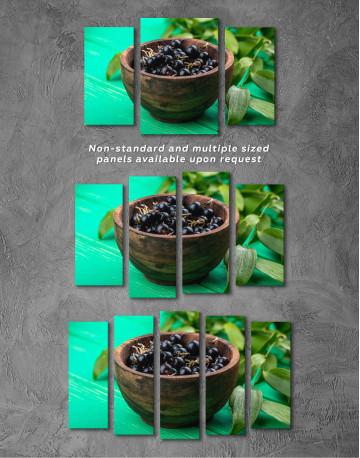 Black Currant Bowl Canvas Wall Art - image 5