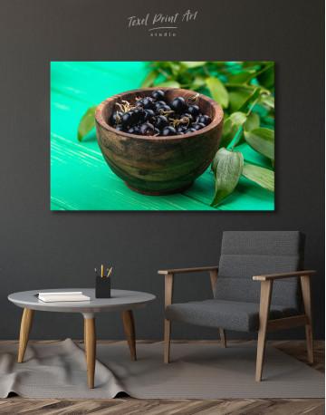 Black Currant Bowl Canvas Wall Art - image 4