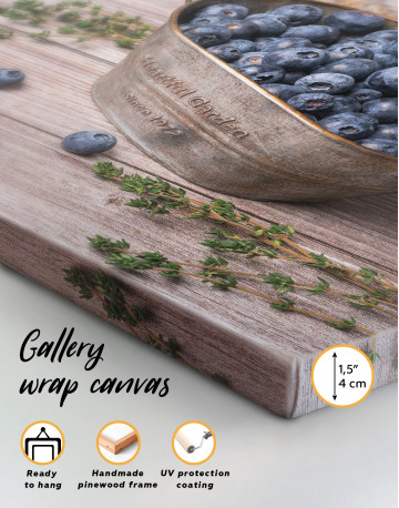 Bowl With Blueberries Canvas Wall Art - image 8
