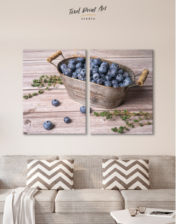 Bowl With Blueberries Canvas Wall Art - image 10