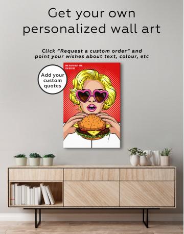 Pop Art Cheeseburger Canvas Wall Art - image 4