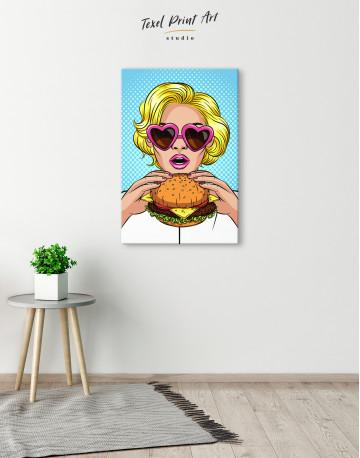 Pop Art Cheeseburger Canvas Wall Art - image 2