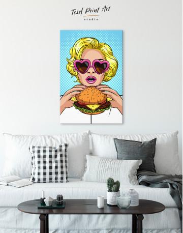 Pop Art Cheeseburger Canvas Wall Art - image 6