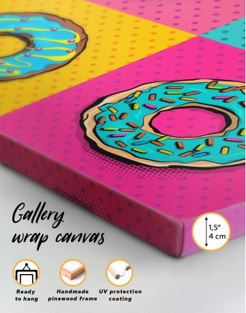 Donut Pop Art Style Canvas Wall Art - image 2